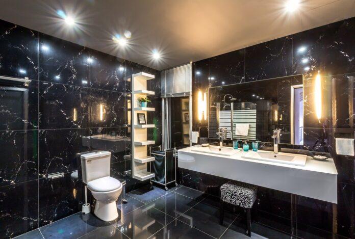 Arredamento per bagno dell'hotel